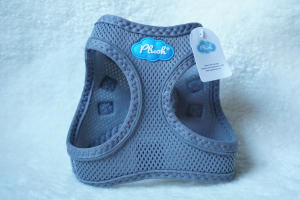 Plush Step In Air Mesh Harness Shark-Grey