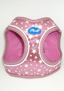 Plush Step In Air Mesh Harness GG-Pink