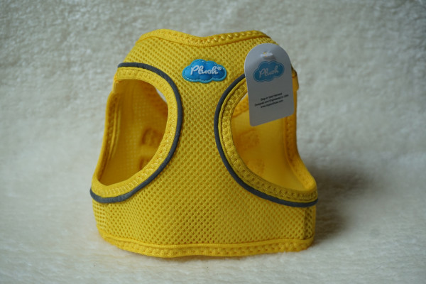Plush Step In Air Mesh Harness Blazing Yellow