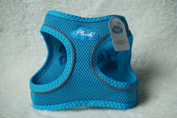 Plush Step In Air Mesh Harness Horizon Blue