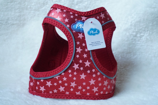 Plush Step In Air Mesh Harness GG-Red