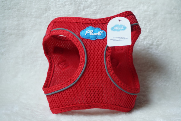 Plush Step In Air Mesh Harness Red