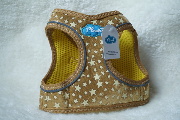 Plush Step In Air Mesh Harness GG-Gold